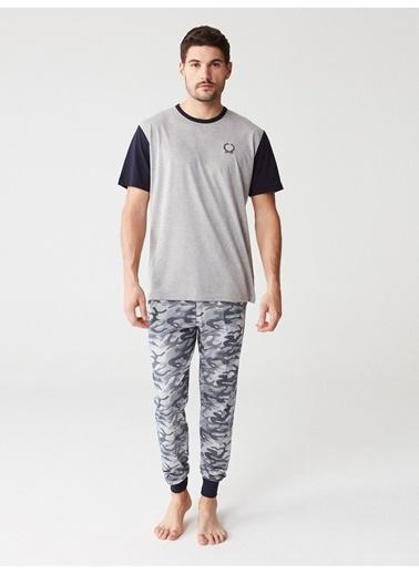 Mod Collection Erkek Pijama Takımı Gri